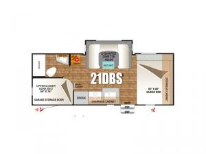 Creek Side Titanium Series 21DBS Floorplan Image