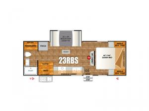 Creek Side Titanium Series 23RBS Floorplan Image