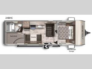 Colorado 24BHC Floorplan Image