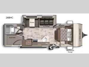Colorado 26BHC Floorplan Image