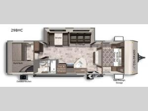 Colorado 29BHC Floorplan Image