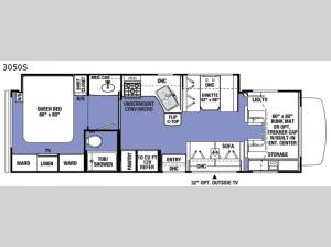 Sunseeker 3050S Ford Floorplan Image