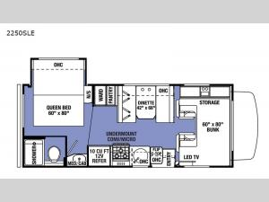 Sunseeker LE 2250SLE Chevy Floorplan Image