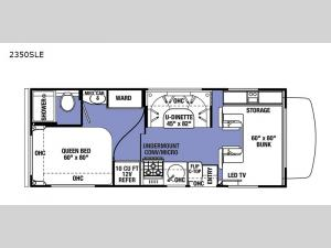 Sunseeker LE 2350SLE Chevy Floorplan Image