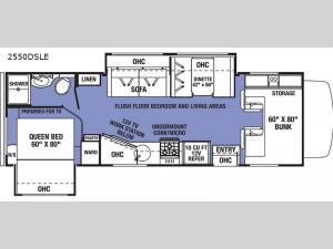 Sunseeker LE 2550DSLE Ford Floorplan Image