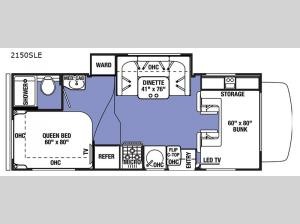 Sunseeker LE 2150SLE Chevy Floorplan Image