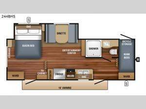 Jay Flight SLX 8 244BHS Floorplan Image