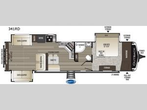 Outback 341RD Floorplan Image