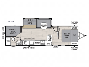 Northern Spirit Ultra Lite 2963BH Floorplan Image