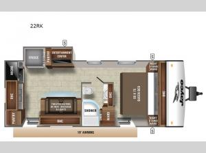 Jay Feather 22RK Floorplan Image