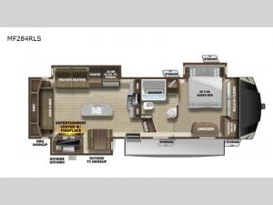 Mesa Ridge MF284RLS Floorplan Image