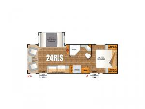 Timber Ridge Titanium Series 24RLS Floorplan Image