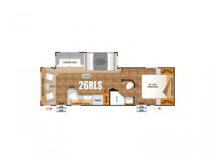 Timber Ridge Titanium Series 26RLS Floorplan Image