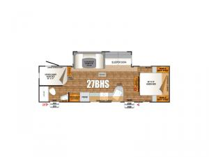 Timber Ridge Titanium Series 27BHS Floorplan Image
