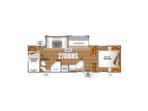 Timber Ridge Titanium Series 27DBHS Floorplan Image