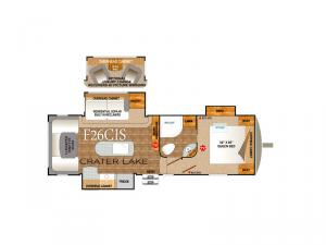 Glacier Peak Mountain Series F26CIS Floorplan Image