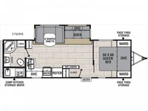 Northern Spirit Ultra Lite 2760RB Floorplan Image