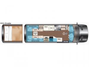 Weekender Sprinter MD2-Dinette Floorplan Image