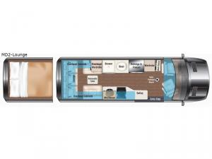 Weekender Sprinter MD2-Lounge Floorplan Image