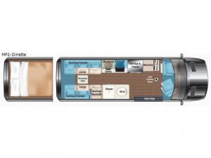 Weekender Sprinter MP2-Dinette Floorplan Image