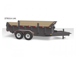 "83"" Wide Ultra Duty Dump Trailers DT8314-14K Floorplan Image"