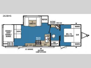 Clipper Ultra-Lite 262BHS Floorplan Image