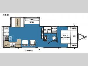 Clipper Ultra-Lite 27RKS Floorplan Image