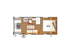Black Rock Back Country Series 20RD Floorplan Image