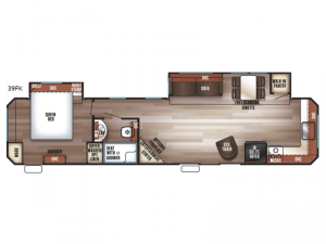 Cherokee Destination Trailers 39FK Floorplan Image