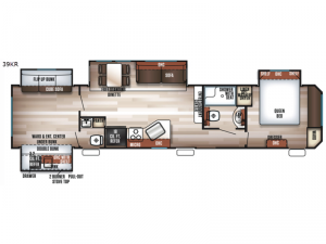 Cherokee Destination Trailers 39KR Floorplan Image