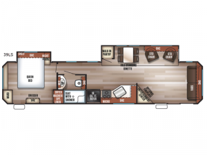 Cherokee Destination Trailers 39LS Floorplan Image