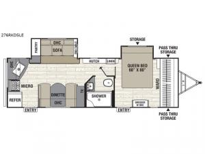Freedom Express Maple Leaf Edition 276RKDSLE Floorplan Image
