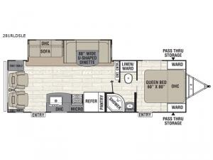 Freedom Express Maple Leaf Edition 281RLDSLE Floorplan Image