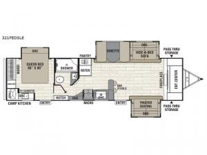 Freedom Express Maple Leaf Edition 321FEDSLE Floorplan Image