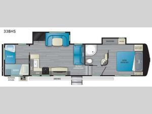 ElkRidge 33BHS Floorplan Image