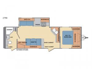 Revere 27RB Floorplan Image