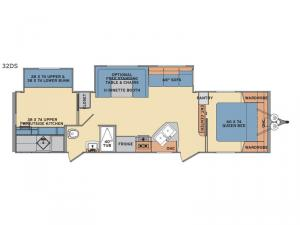 Revere 32DS Floorplan Image