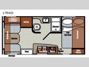 Vista Cruiser 17RWD Floorplan Image
