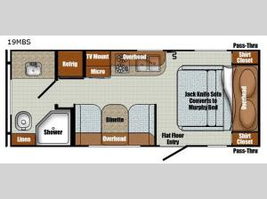 Vista Cruiser 19MBS Floorplan Image