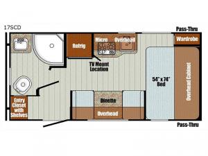 Vista Cruiser 17SCD Floorplan Image