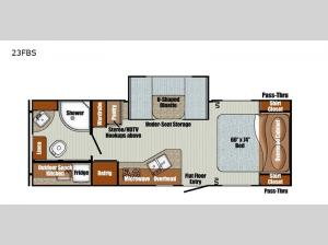 Vista Cruiser 23FBS Floorplan Image