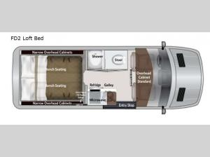 American Patriot FD2 Loft Bed Floorplan Image