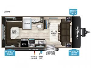 Imagine XLS 21BHE Floorplan Image