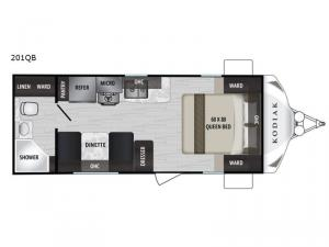 Kodiak Ultra-Lite 201QB Floorplan Image