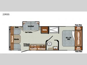 Vintage Cruiser 23RSS Floorplan Image