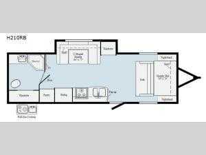 Hike H210RB Floorplan Image