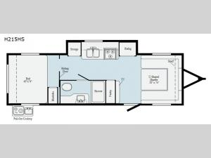 Hike H215HS Floorplan Image