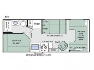 Chateau 23U Chevy Floorplan Image