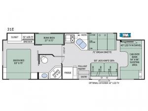 Chateau 31E Floorplan Image