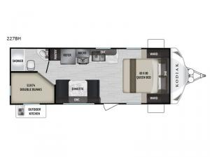 Kodiak Ultra-Lite 227BH Floorplan Image